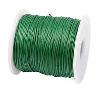 Вощеный шнур Зеленый для рукоделия 1 мм 22 м/уп