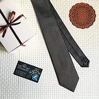 """Стильный галстук """"Карри"""" черный, в подарочной коробке. Roberto Gabbanni"""