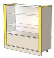 Прилавок-витрина для аптеки с ящиками 1000мм