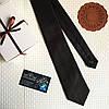 """Стильный галстук """"Ореан"""" черно-касный, в подарочной коробке. Roberto Gabbanni"""
