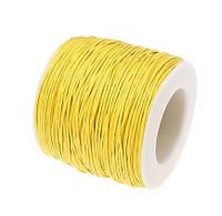 Вощеный шнур Желтый для рукоделия 1 мм 22 м/уп