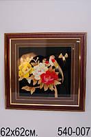 "Картина  из соломки ""Птицы и цветы"" 62х62 см  ed540-007"