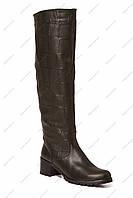 Стильные зимние ботфорты KOSTAS  618-E кор кож-Z скидка