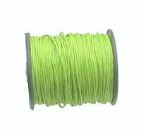 Вощеный шнур Зеленый Лайм для рукоделия 1 мм 22 м/уп