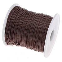 Вощеный шнур Шоколадный для рукоделия 1 мм 22 м/уп