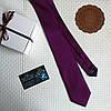 """Стильный галстук """"Жаклин"""" фиолетовый с красной строчкой, в подарочной коробке. Carlo Cavallo"""