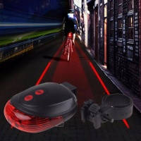 Велосипедный задний фонарь с лазерными габаритами. Задний фонарь для велосипеда с лазером