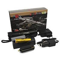 Тактический фонарь Bailong BL-1837-T6 50000W , аккумуляторный, оптический зум, фонари, светотехника