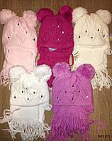 Детская шапка + шарф 3025 (32)
