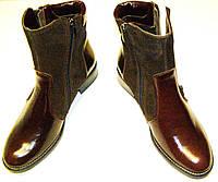 Ботинки женские кожаные коричневые 37, фото 1