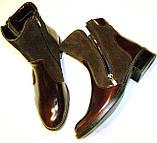 Ботинки женские кожаные коричневые 37, фото 6