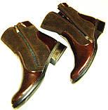 Ботинки женские кожаные коричневые 37, фото 7
