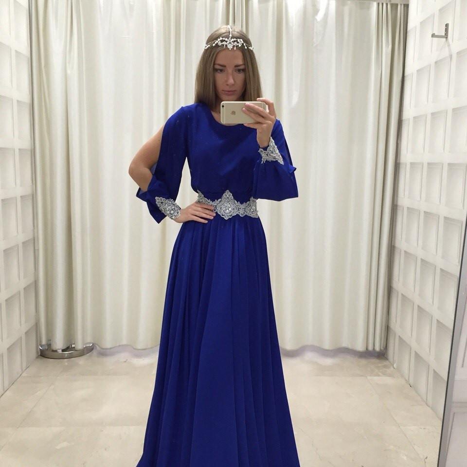 """Вечернее женское шифоновое платье """"Злата"""" (6 цветов) - Леди Плюс в Одессе"""