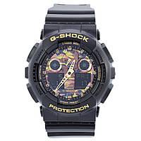 Часы  G-Shock - GA-100 khaki,  противоударные, яркие, фото 1