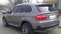 BMW X5 E-70 2007-2013 гг. Накладка на задний бампер (под покраску)