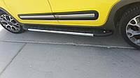 Mercedes Vito W447 2014+ гг. Боковые площадки Duru (2 шт., алюминий) Длинная (ExtraLong)