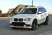 BMW X5 E-70 2007-2013 гг. Накладка на передний бампер (под покраску)