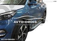 Защитные боковые подножки Hyundai Tucson 2015-2017, в стиле BMW X5 CanOto