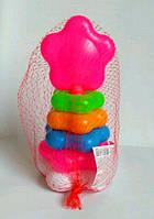 """Пирамидка для малышей """"Цветочек"""" (21 см), в сетке"""