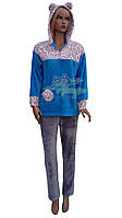 Тепла пухнаста жіноча піжама Stass Moda №1091