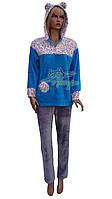 Теплая пушистая женская пижама Stass Moda №1091