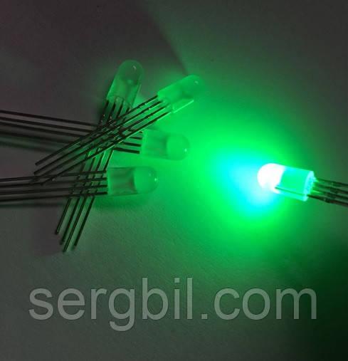 5мм светодиод диффузный RGB 4 выв. общ.а.