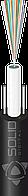 Диэлетрический облегченный, 24 одномодовых волокон G.652D, монотуб, два стержня (стеклопруток 0.8мм)