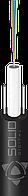 Диэлетрический облегченный, 4 одномодовых волокна G.652D, монотуб, два стержня (стеклопруток 0.8мм)