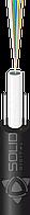 Диэлетрический облегченный, 8 одномодовых волокон G.652D, монотуб, два стержня (стеклопруток 0.8мм)