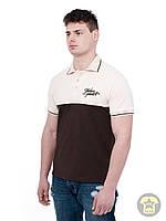 Мужская летняя футболка ( поло , реглан ) Urban planet - TB ( бежевый / коричневый )