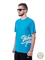 Мужская летняя футболка ( реглан ) Urban planet - Front Type B ( синий )