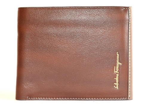 Salvatore Ferragamo 8013-3 кошелёк мужской кожанный