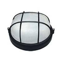 Светильник гаражный круглый черный с решеткой E27 60W IP54 ЖКХ