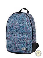 Рюкзак, наплечник 25 Л ( унисекс ) ( с отделением для ноутбука ) Urban Planet - Abstract ( голубой / белый )