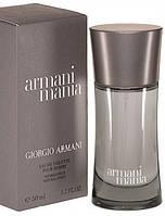 Мужская туалетная вода Armani Mania(Армани Мания)-магнетический амброво-древесный аромат с нотками мускуса AAT