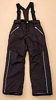 Детские брюки зимние на подтяжках унисекс (на мороз до - 20) ТМ Be easy Коричневый 116