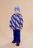 Демисезонные брюки на флисе на мальчика 3-9 лет (92-134, мембранная ткань) ТМ Be easy Василек 134