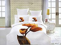 Постельное белье Molly, сатин, фотопринт ТМ Arya (Ария) Турция, тюльпаны