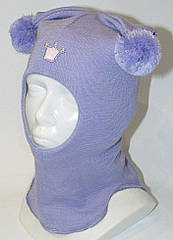 Детский шлем (шапка) зимняя Фокси (Foxy) на девочку (46-56) ТМ Be easy Колокольчик Р1