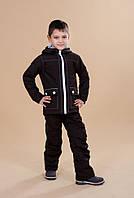Детская куртка демисезонная Би изи на мальчика (мембранная ткань / холлофайбер / флис) ТМ Be easy Коричневый 122