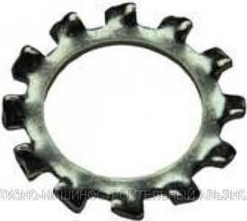 Шайба DIN 6797  (форма A) пружинная зубчатая ГОСТ 10463-81