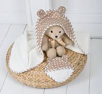"""Незаменимый махровый комплект для купания малыша """"Медвежонок"""" ТМ MagBaby Бежевый"""