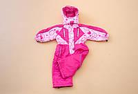 Сдельный комбинезон на девочку р. 104 2-3 года на зиму до -20 (холлофайбер, мембранная ткань) ТМ Be easy Розовый