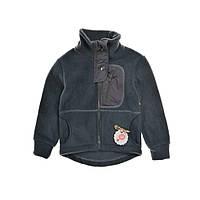Детский флисовый реглан 2 в 1 на мальчика 3-6 лет (демисезонная кофта-курточка и поддева) ТМ Be easy Серый 110