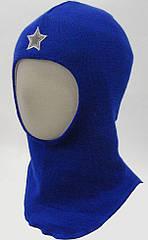 Шлем детский зимний Балаклава для мальчика (окр. 46-54, детская шапка) ТМ Be easy Василек Р1
