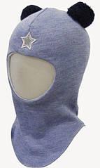 Шлем зимний детский Медвежонок на мальчика (р. 46-54) ТМ Be easy Св меланж Р1