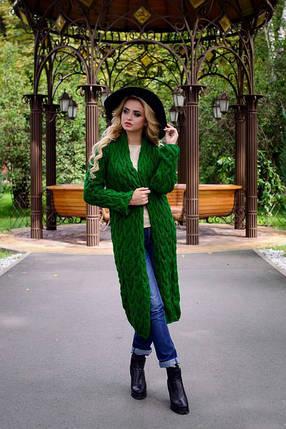 Женский вязаний кардиган Длиний, фото 2