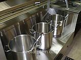 Мармит первых блюд линии раздачи с двумя полками и гнутым стеклом, фото 2
