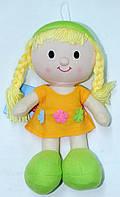 """Кукла мягконабивная, тканевая """"Мини"""" (оранжевое платье)"""