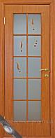 Межкомнатные двери ПВХ витраж + матовое стекло + рисунок
